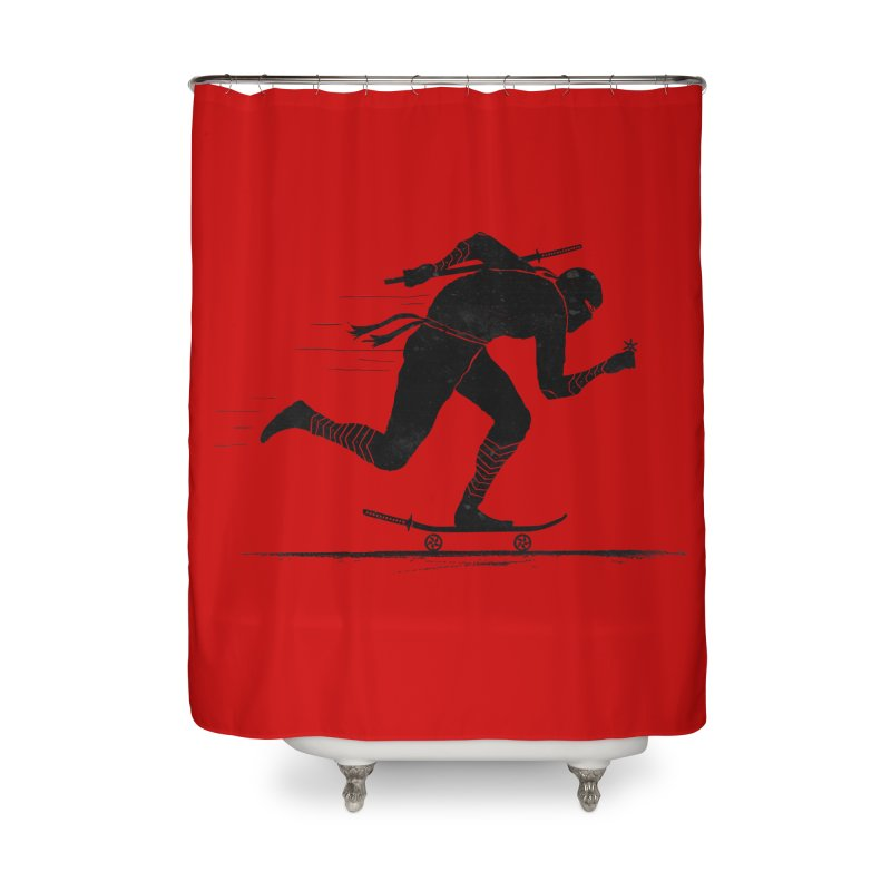 NINJA SKATER Home Shower Curtain by RL76