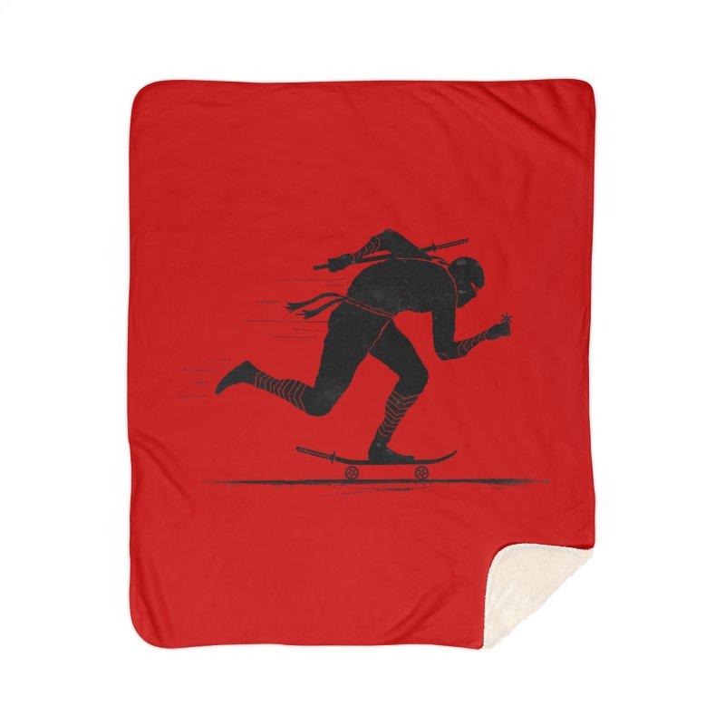 NINJA SKATER Home Sherpa Blanket Blanket by RL76