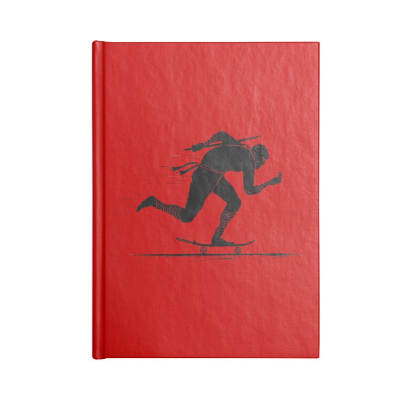 NINJA SKATER Accessories Lined Journal Notebook by RL76