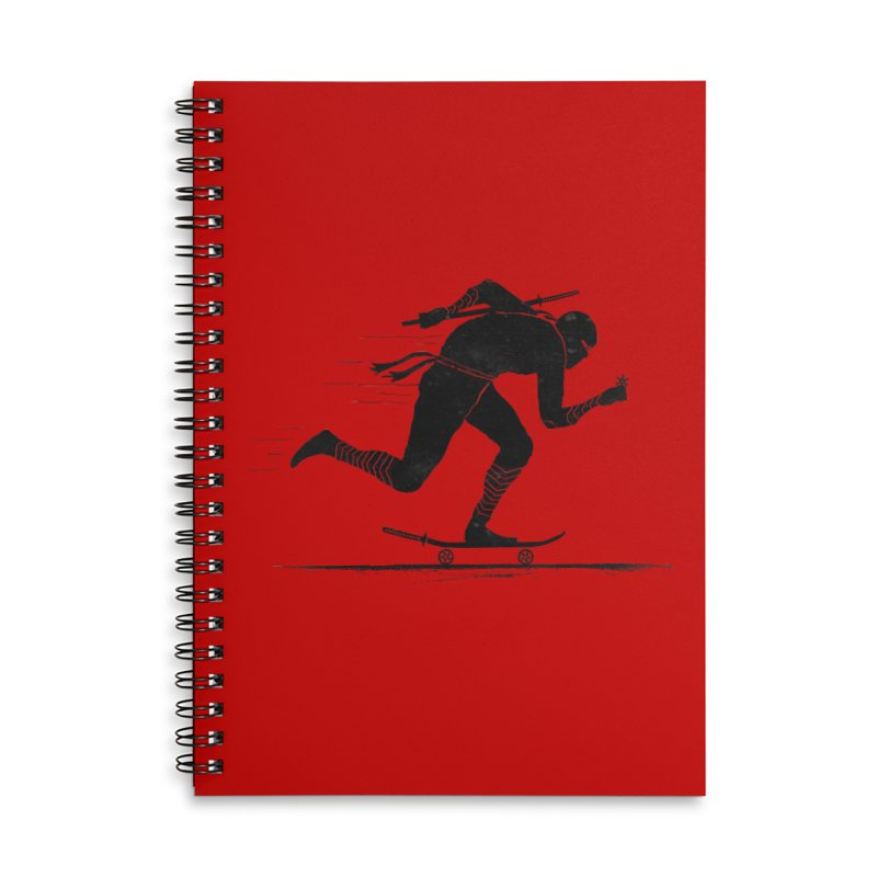 NINJA SKATER Accessories Lined Spiral Notebook by RL76