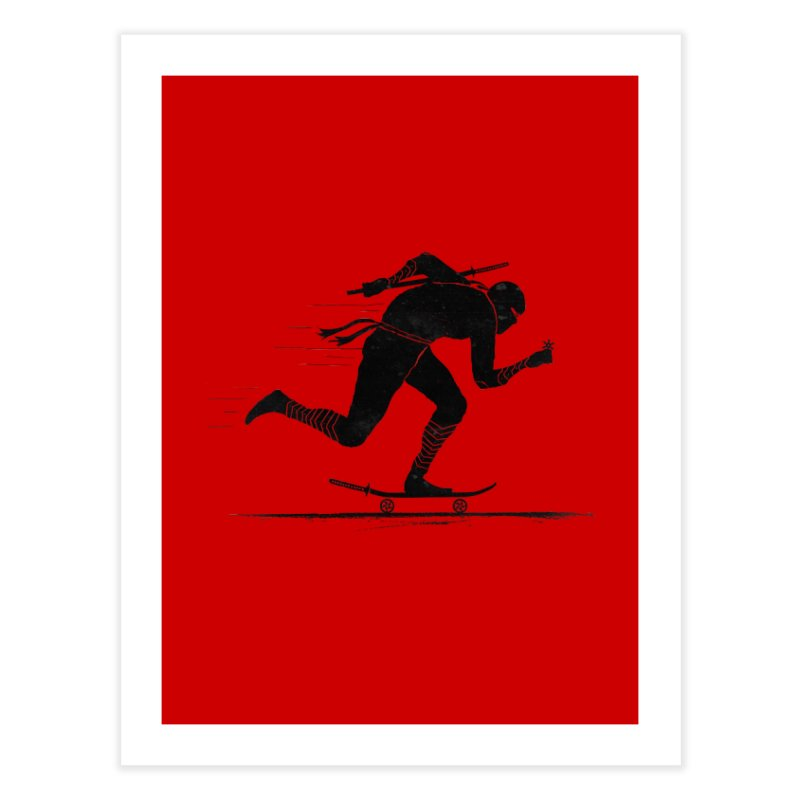 NINJA SKATER Home Fine Art Print by RL76
