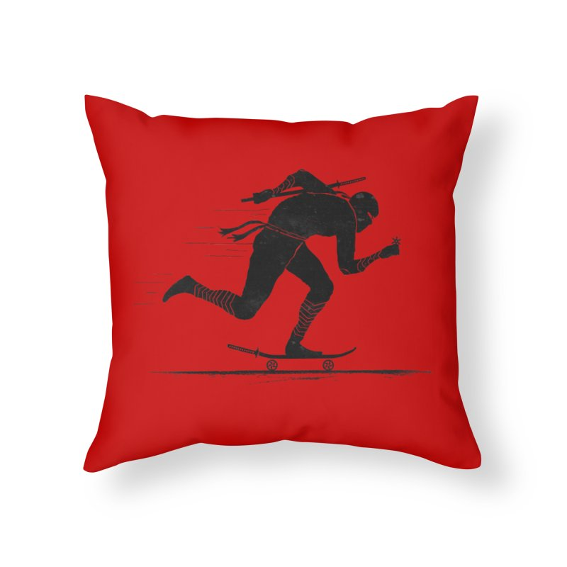 NINJA SKATER Home Throw Pillow by RL76