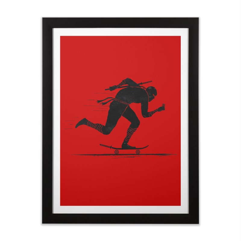 NINJA SKATER Home Framed Fine Art Print by RL76