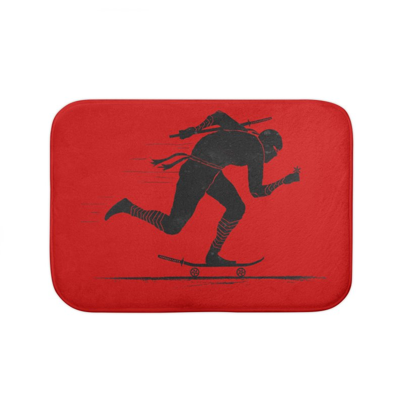 NINJA SKATER Home Bath Mat by RL76