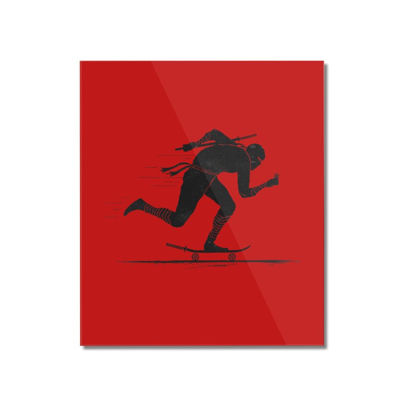 NINJA SKATER Home Mounted Acrylic Print by RL76