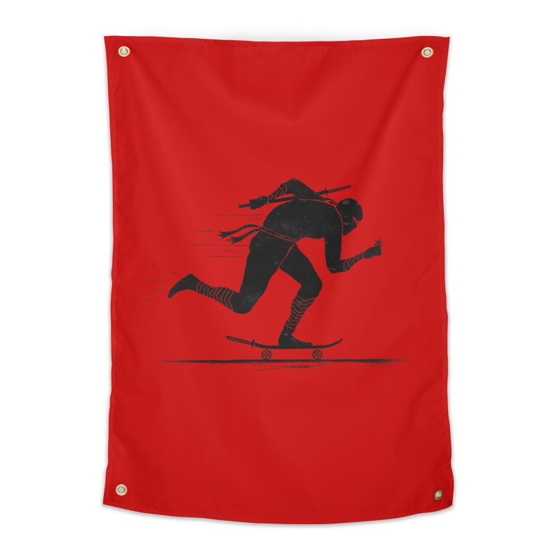 NINJA SKATER Home Tapestry by RL76