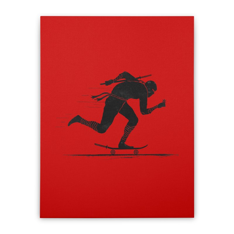 NINJA SKATER Home Stretched Canvas by RL76