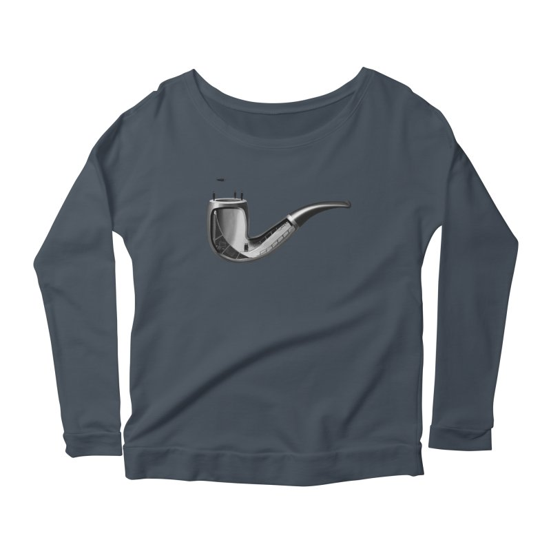 THIS IS NOT A HALFPIPE Women's Scoop Neck Longsleeve T-Shirt by RL76