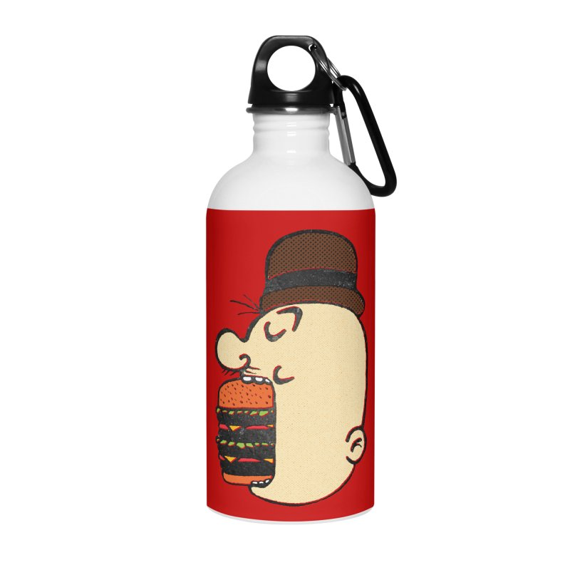 Say AHHHHHHHAMBURGER Accessories Water Bottle by RL76