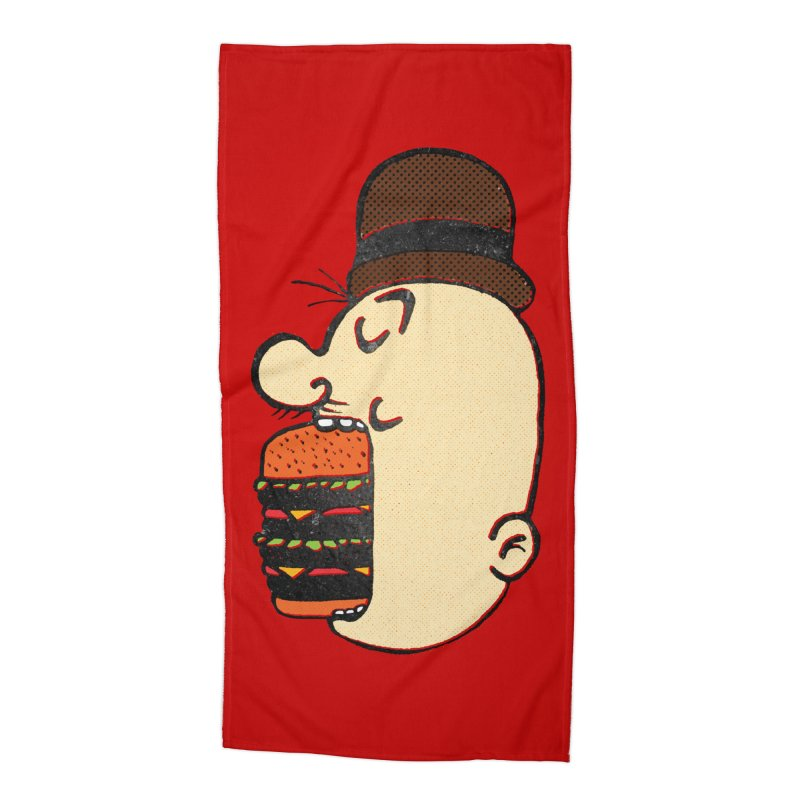 Say AHHHHHHHAMBURGER Accessories Beach Towel by RL76