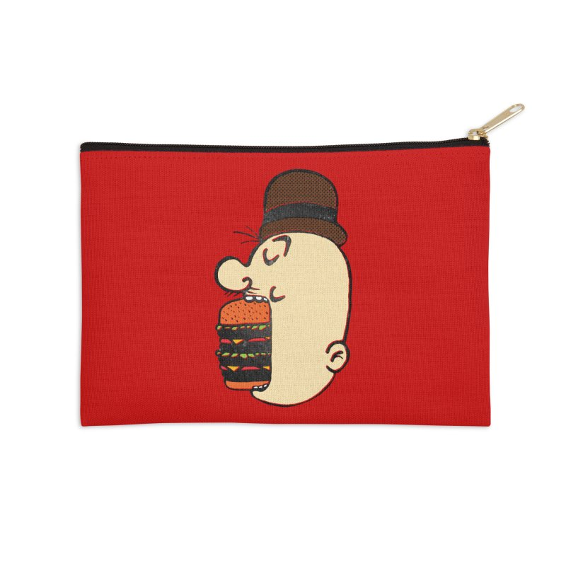 Say AHHHHHHHAMBURGER Accessories Zip Pouch by RL76