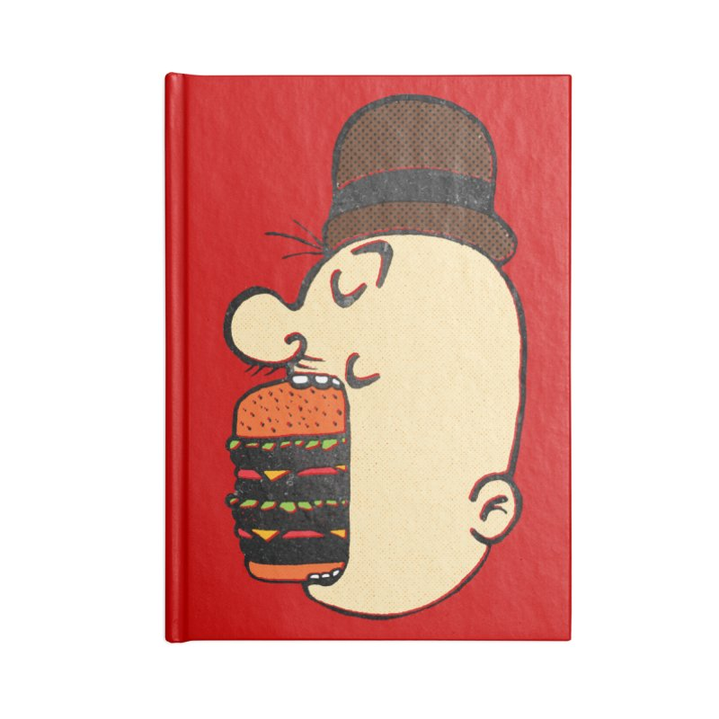 Say AHHHHHHHAMBURGER Accessories Lined Journal Notebook by RL76