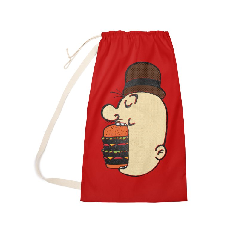 Say AHHHHHHHAMBURGER Accessories Laundry Bag Bag by RL76