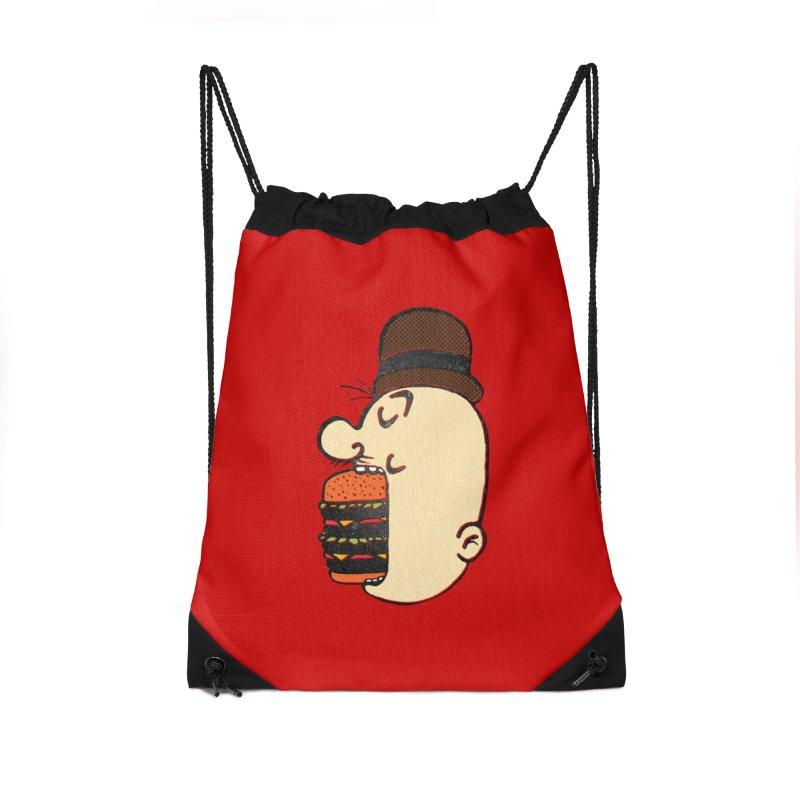 Say AHHHHHHHAMBURGER Accessories Drawstring Bag Bag by RL76