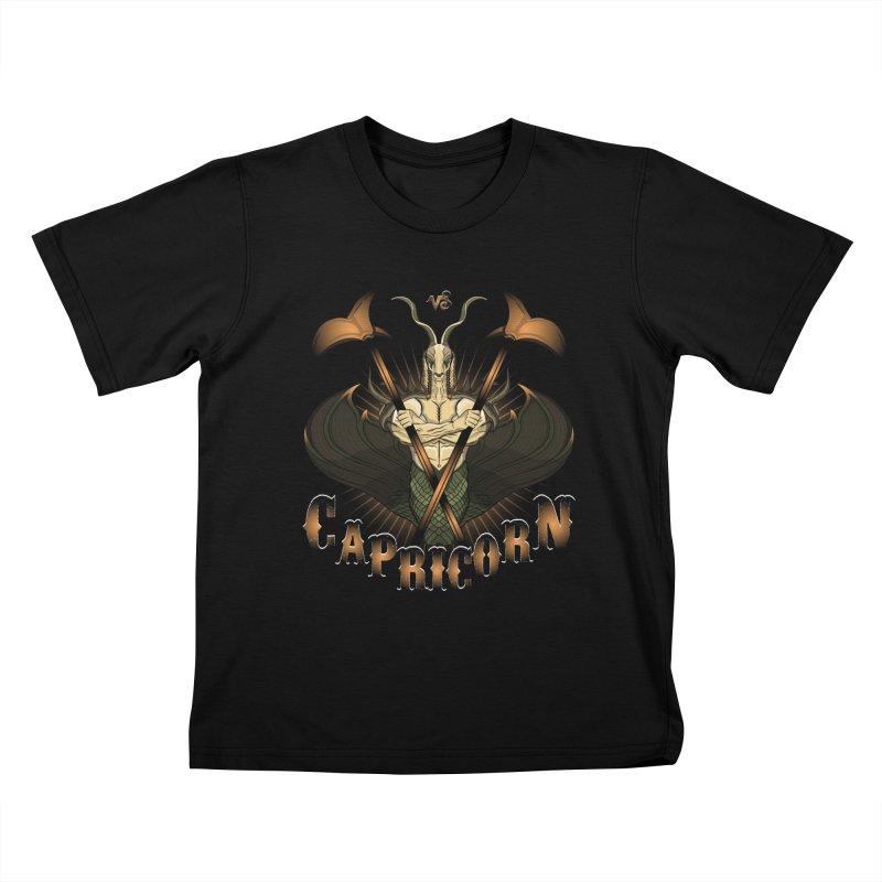 The Goat - Capricorn Spirit Kids T-shirt by R Lopez Designs