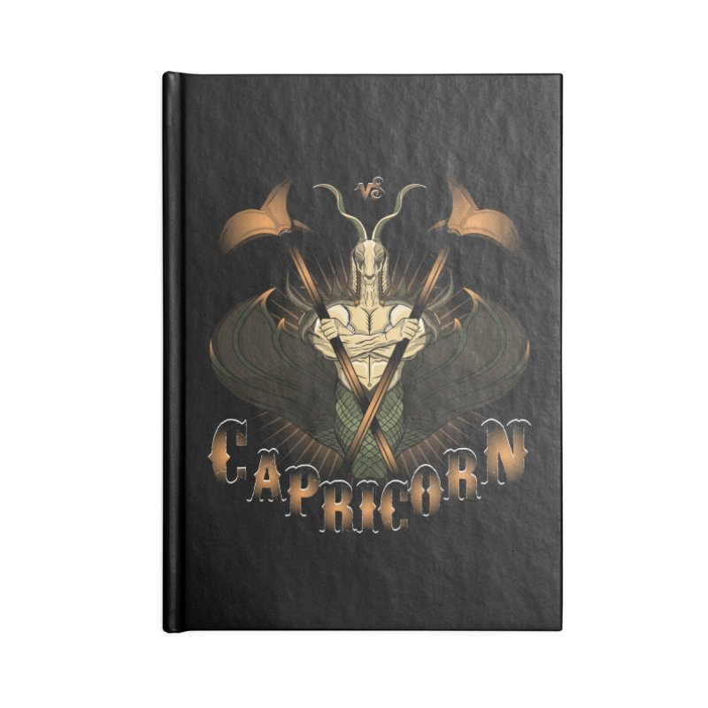The Goat - Capricorn Spirit Accessories Notebook by R Lopez Designs