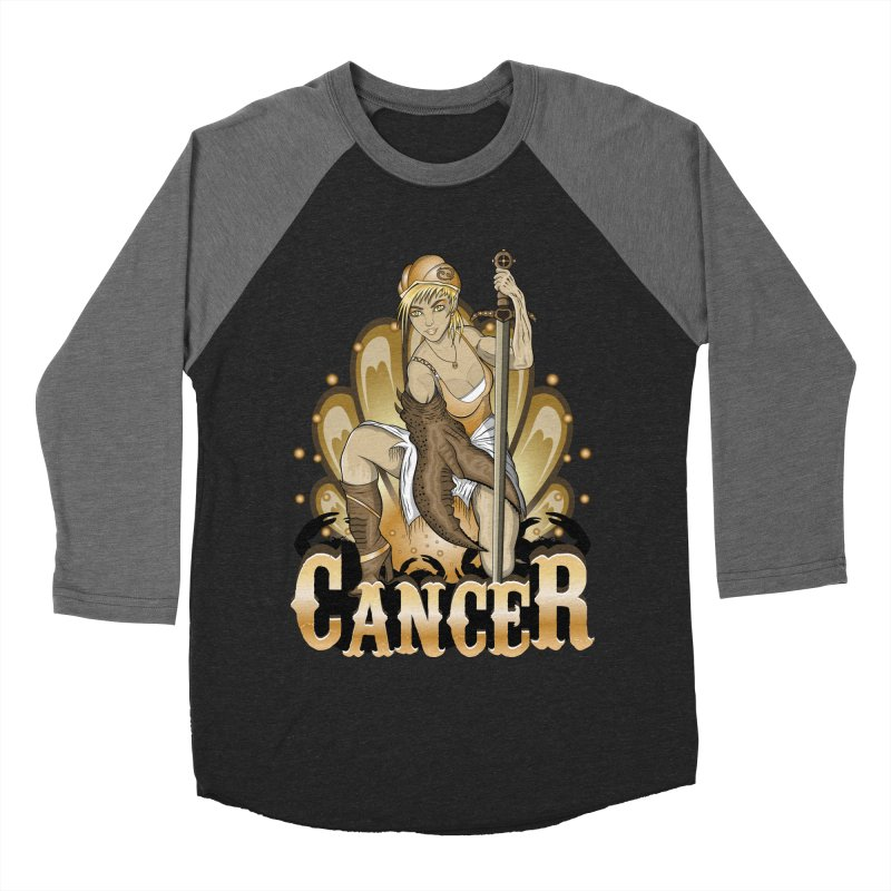 The Crab - Cancer Spirit Men's Baseball Triblend T-Shirt by R Lopez Designs