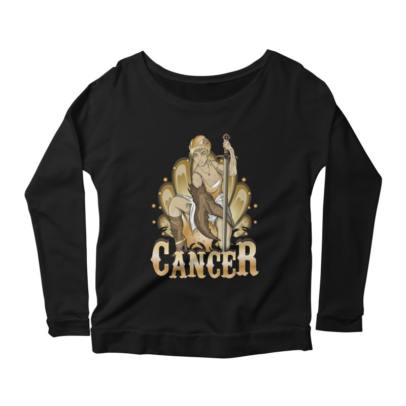 The Crab - Cancer Spirit Women's Scoop Neck Longsleeve T-Shirt by R Lopez Designs