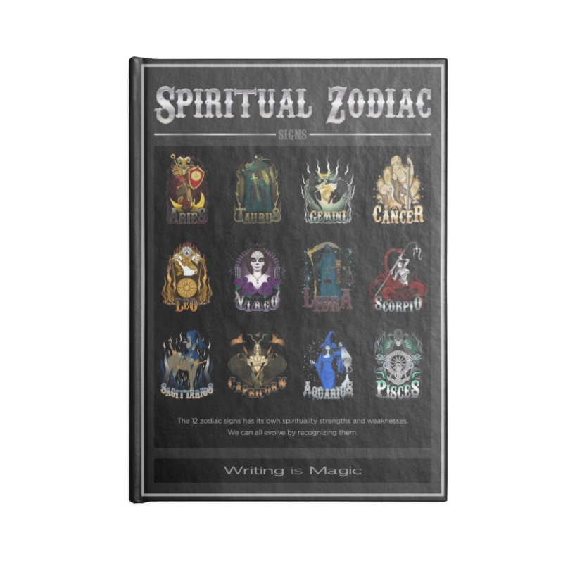 Spiritual Zodiac Signs Accessories Notebook by R Lopez Designs