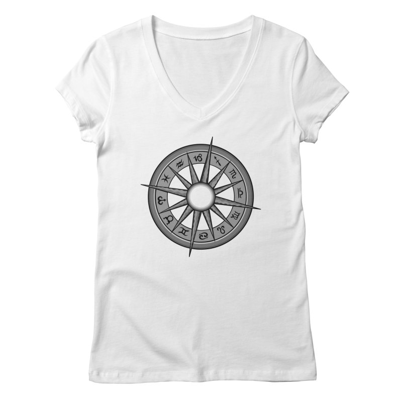 Astrology Zodiac Signs Women's V-Neck by R Lopez Designs