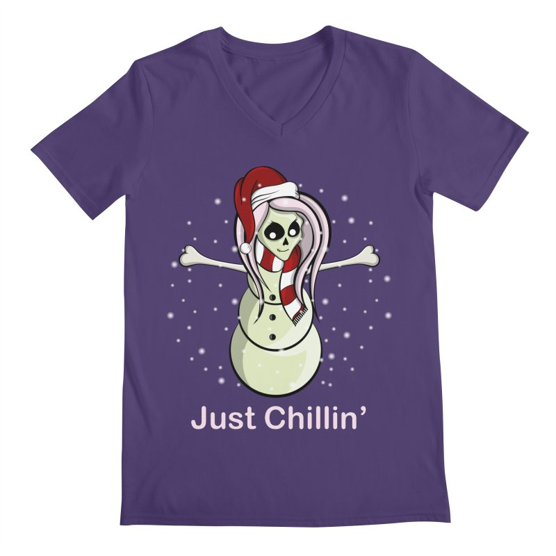 Snow Skeleton - Just Chillin' Men's by rlopezdesigns