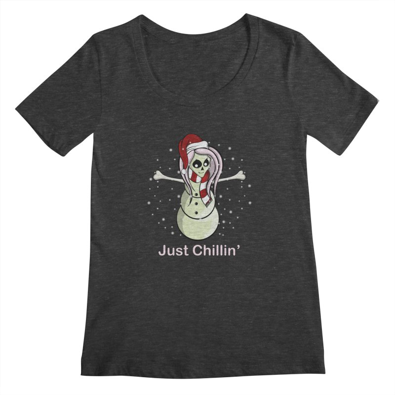 Snow Skeleton - Just Chillin' Women's by rlopezdesigns