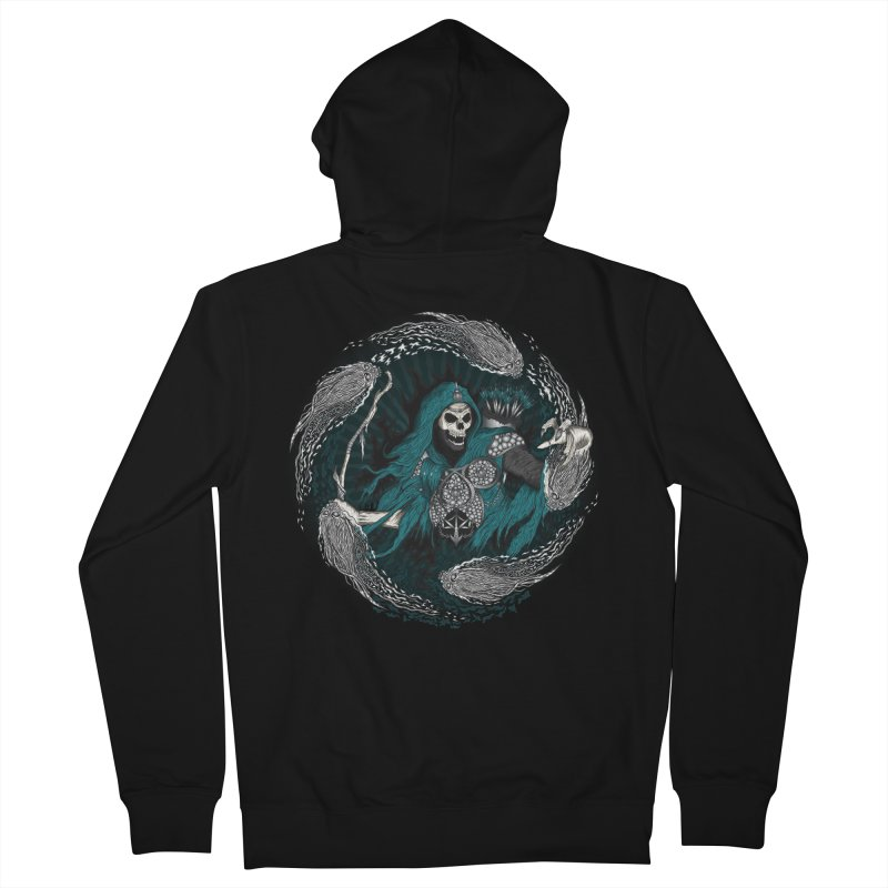 Underworld Archer of Death Men's French Terry Zip-Up Hoody by R Lopez Designs