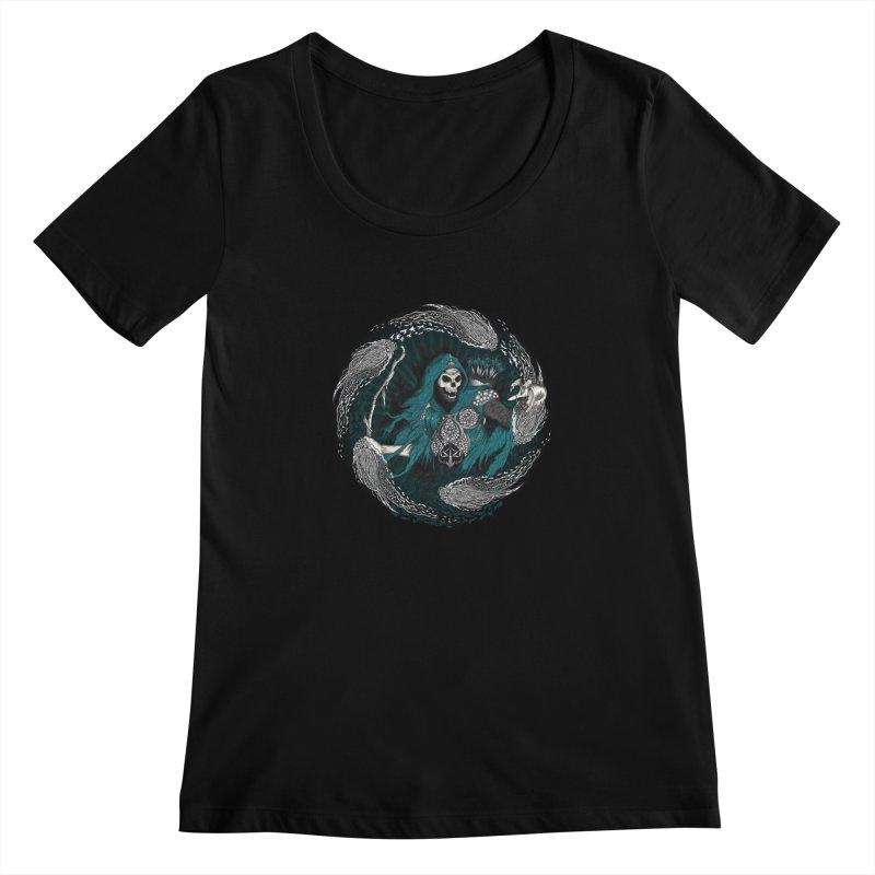Underworld Archer of Death Women's Scoopneck by R Lopez Designs