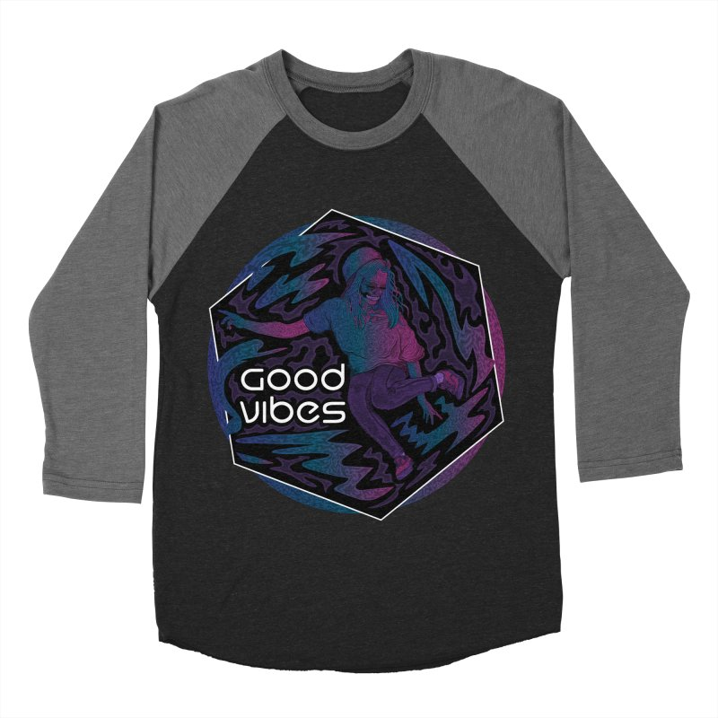 Good Vibes Skelegirl Women's Baseball Triblend T-Shirts by rlopezdesigns