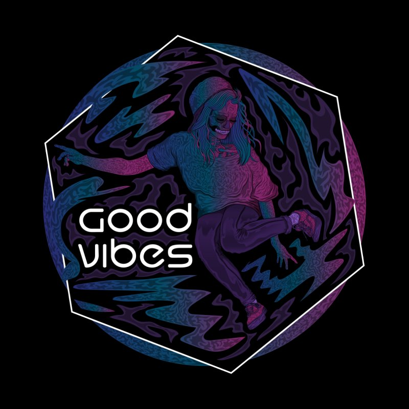 Good Vibes Skelegirl Women's Sweatshirt by R Lopez Designs