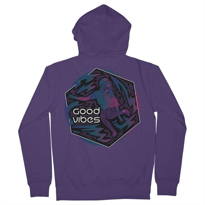 Good Vibes Skelegirl Women's Zip-Up Hoody by R Lopez Designs