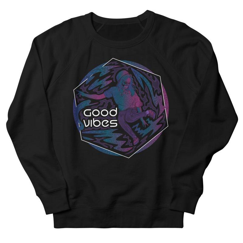 Good Vibes Skelegirl Men's Sweatshirt by R Lopez Designs