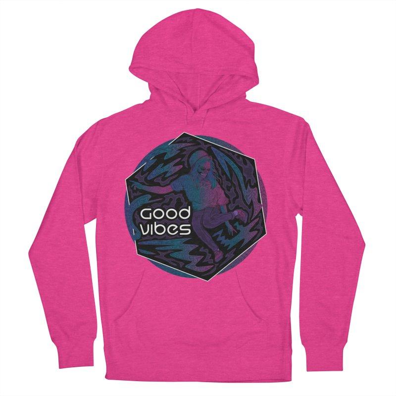 Good Vibes Skelegirl Women's Pullover Hoody by R Lopez Designs