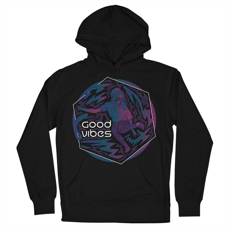 Good Vibes Skelegirl Women's French Terry Pullover Hoody by R Lopez Designs