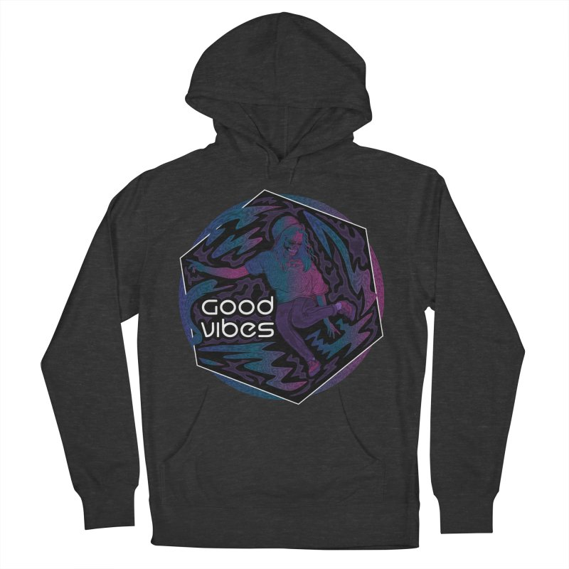Good Vibes Skelegirl Men's French Terry Pullover Hoody by R Lopez Designs