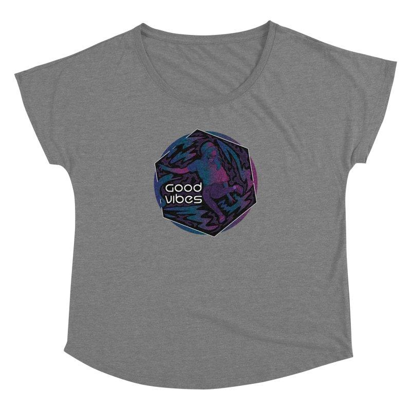 Good Vibes Skelegirl Women's Scoop Neck by R Lopez Designs