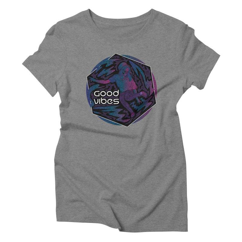 Good Vibes Skelegirl Women's Triblend T-Shirt by R Lopez Designs
