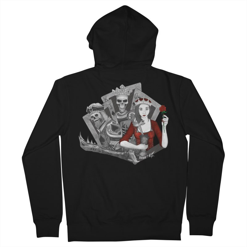 Royalty Love Women's French Terry Zip-Up Hoody by R Lopez Designs