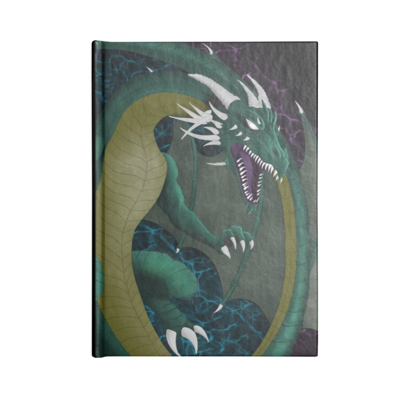 Electric Portal Dragon Accessories Notebook by R Lopez Designs