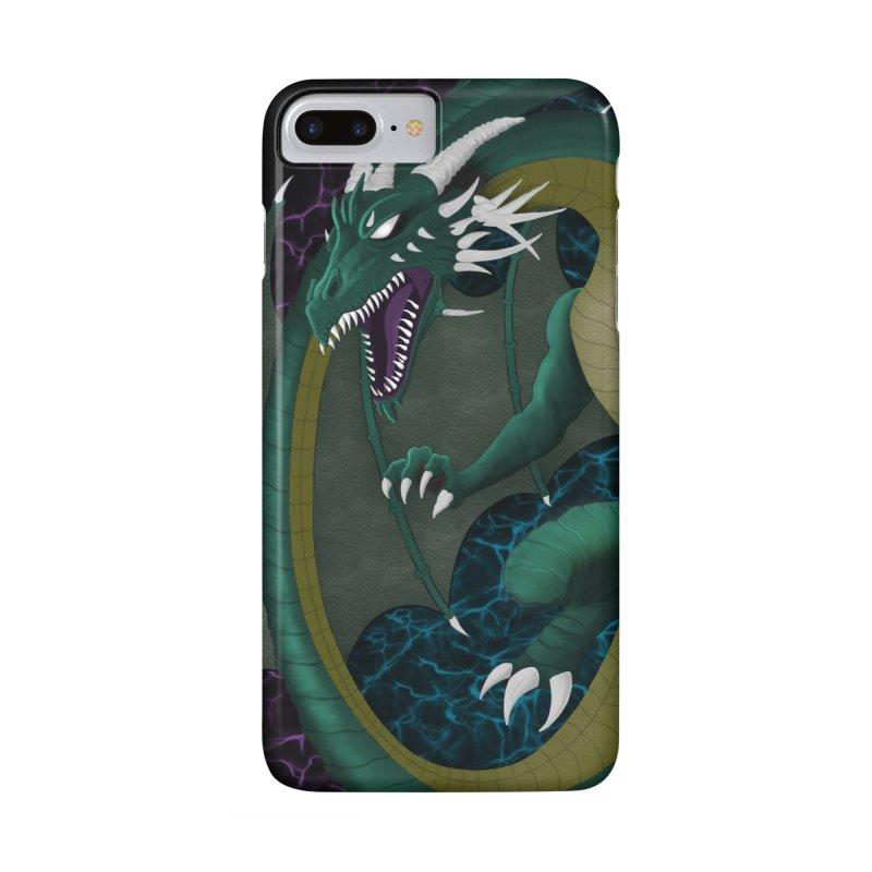 Electric Portal Dragon Accessories Phone Case by R Lopez Designs