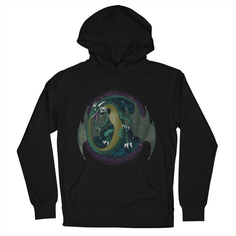 Electric Portal Dragon Women's Pullover Hoodies by rlopezdesigns