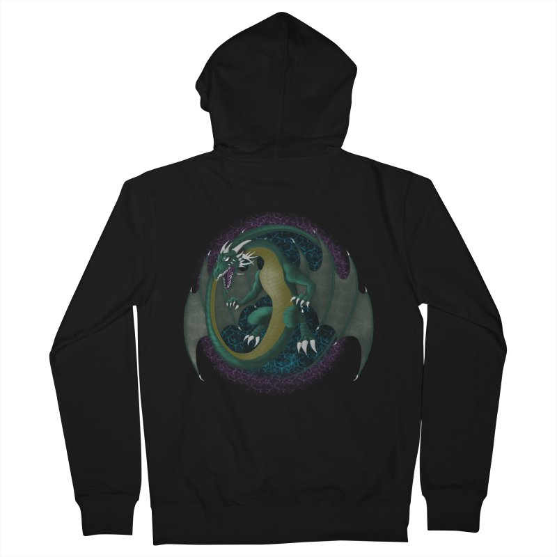 Electric Portal Dragon Women's Zip-Up Hoodies by rlopezdesigns