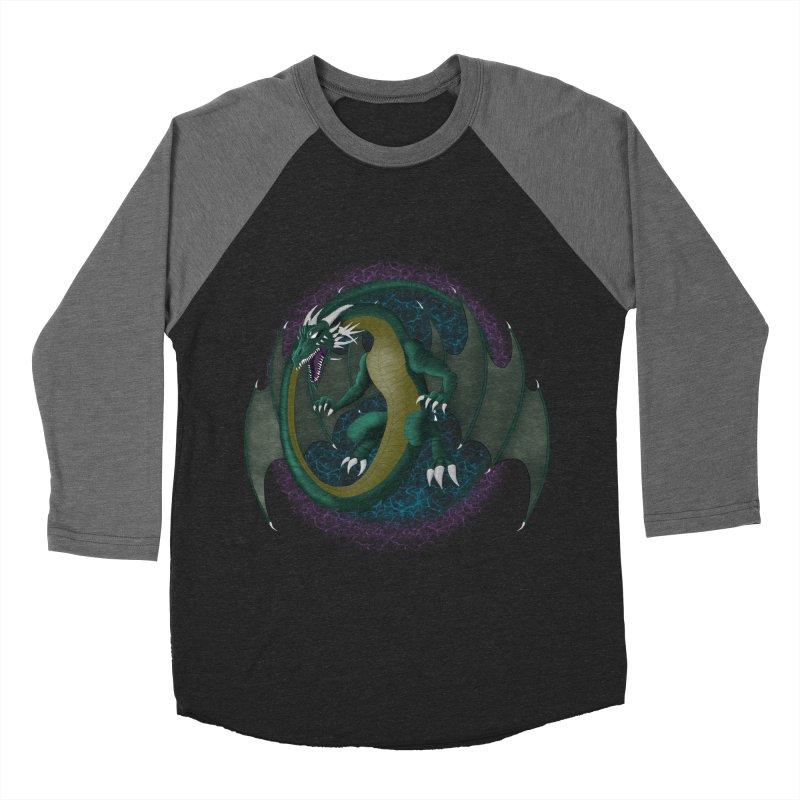 Electric Portal Dragon Women's Baseball Triblend T-Shirts by rlopezdesigns