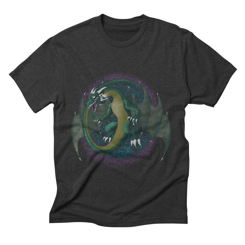 Electric Portal Dragon Men's by rlopezdesigns