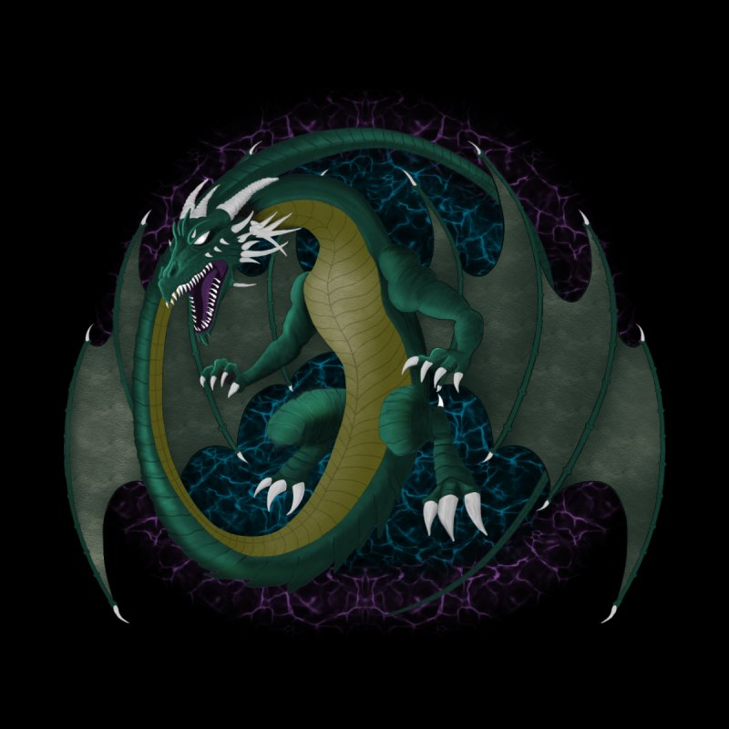 Electric Portal Dragon Men's T-Shirt by R Lopez Designs