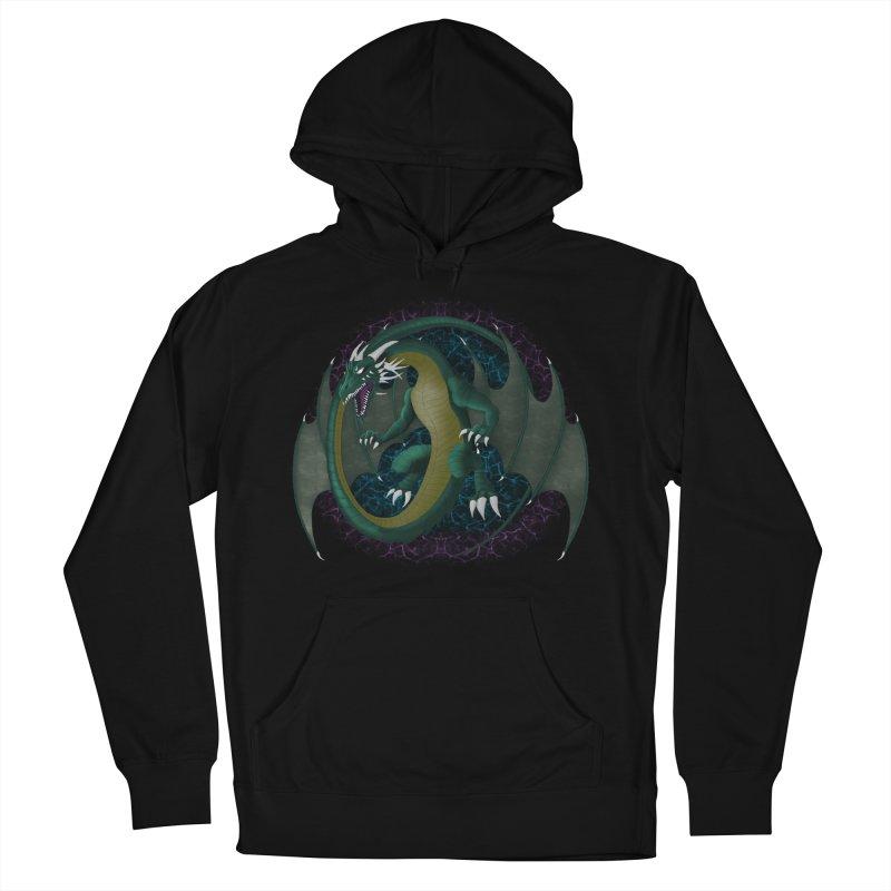 Electric Portal Dragon Men's Pullover Hoody by R Lopez Designs