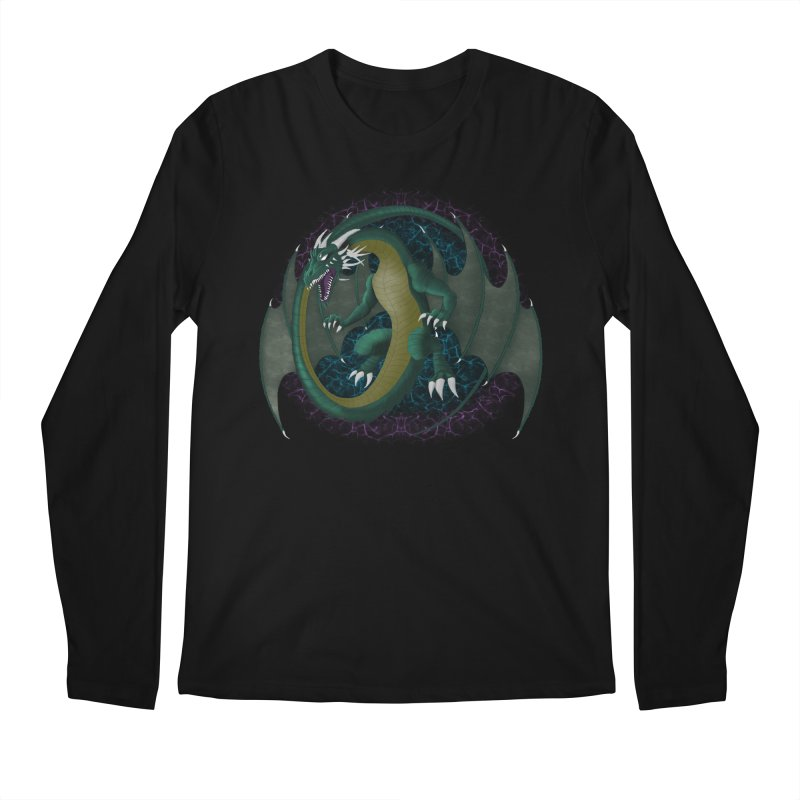 Electric Portal Dragon Men's Longsleeve T-Shirt by R Lopez Designs