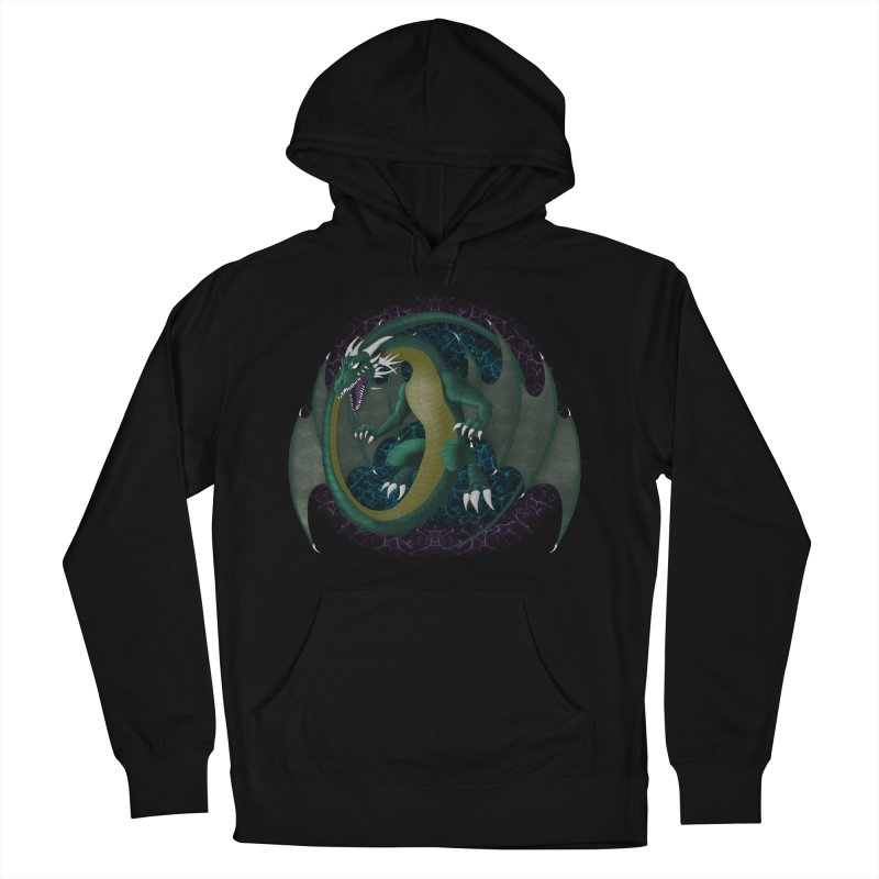Electric Portal Dragon Men's French Terry Pullover Hoody by R Lopez Designs
