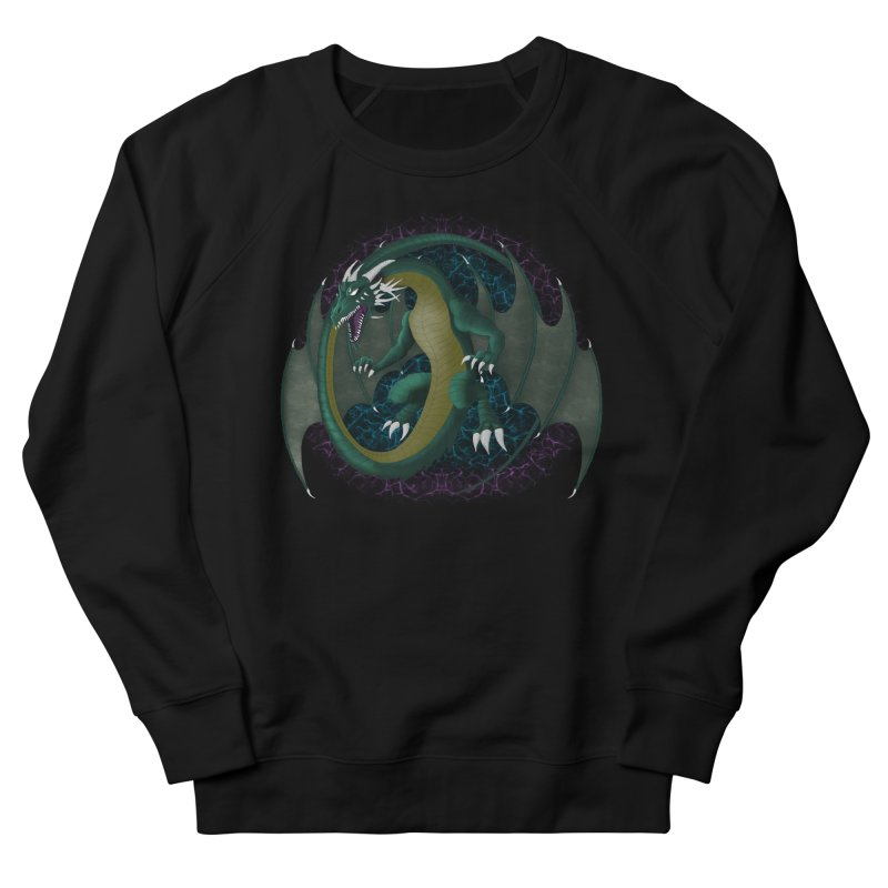 Electric Portal Dragon Women's French Terry Sweatshirt by R Lopez Designs