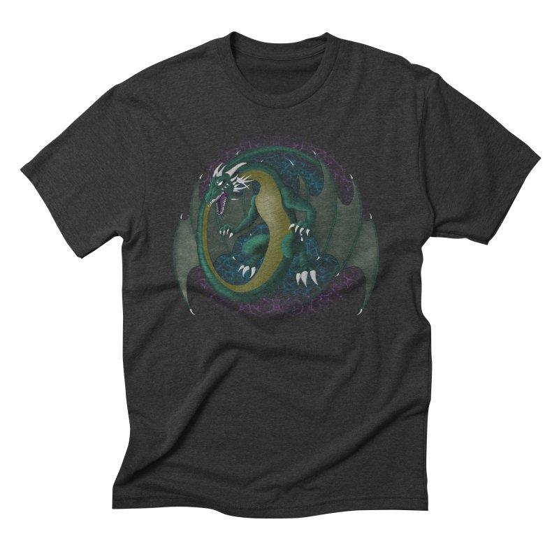 Electric Portal Dragon Men's Triblend T-Shirt by R Lopez Designs